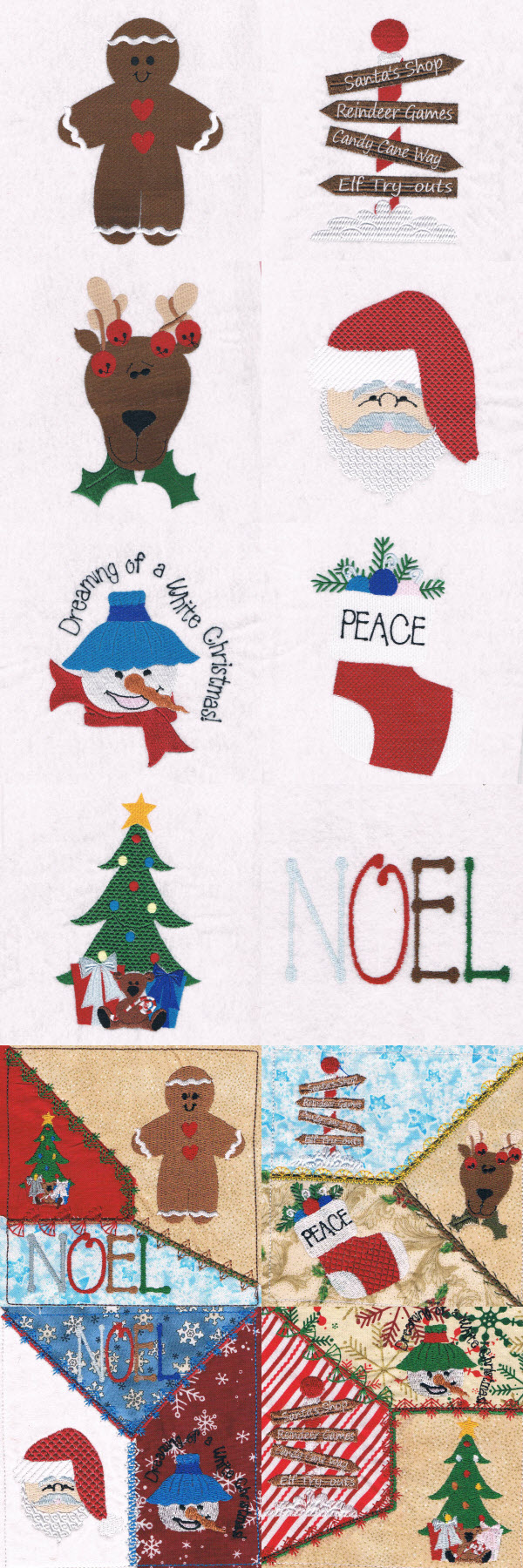 Christmas Town 2 Embroidery Machine Design Details