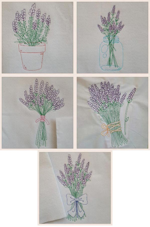 Machine Embroidery Designs Colorline Lavender Set