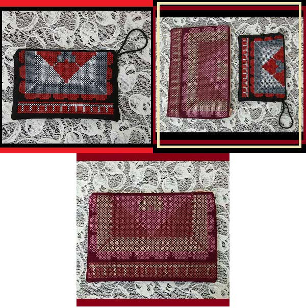 Zippered Cross Stitch Bags Embroidery Machine Design Details