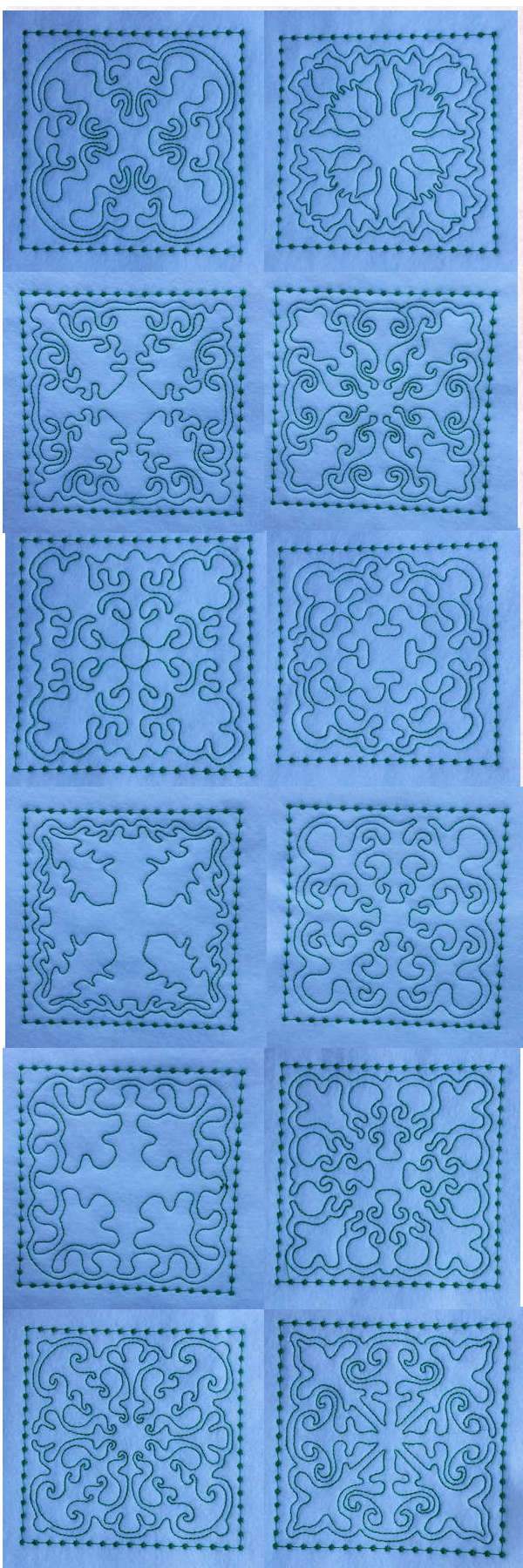 Candlewick Dreams Quilt Blocks Embroidery Machine Design Details