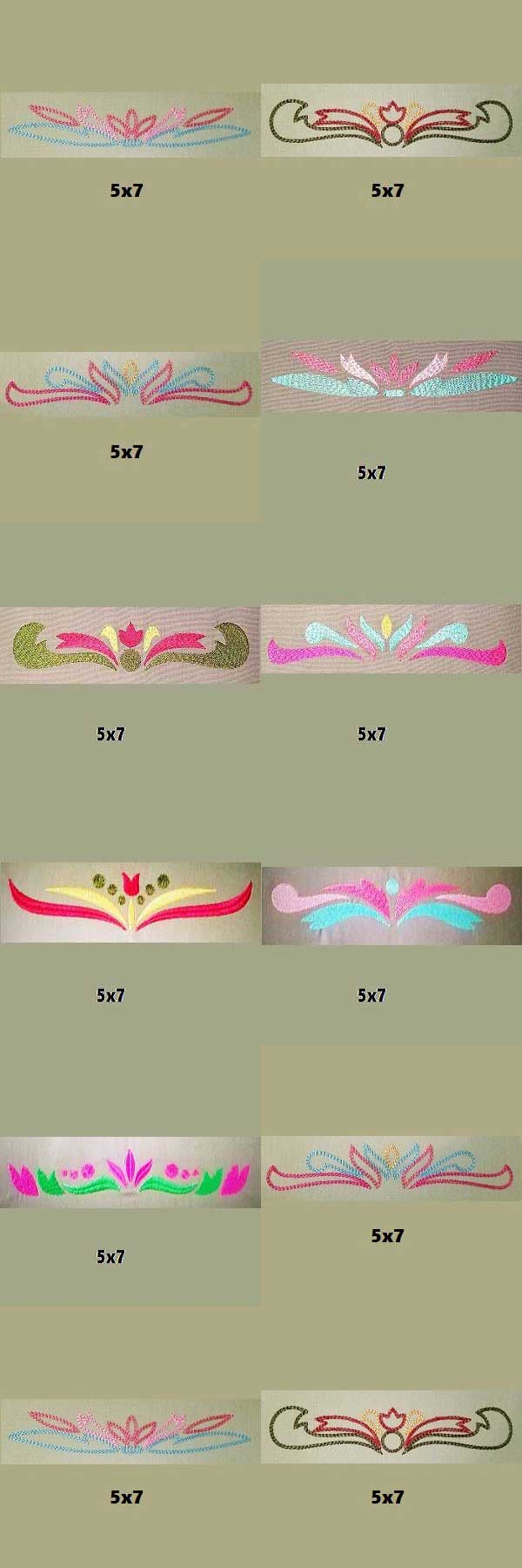 Damask Borders Embroidery Machine Design Details