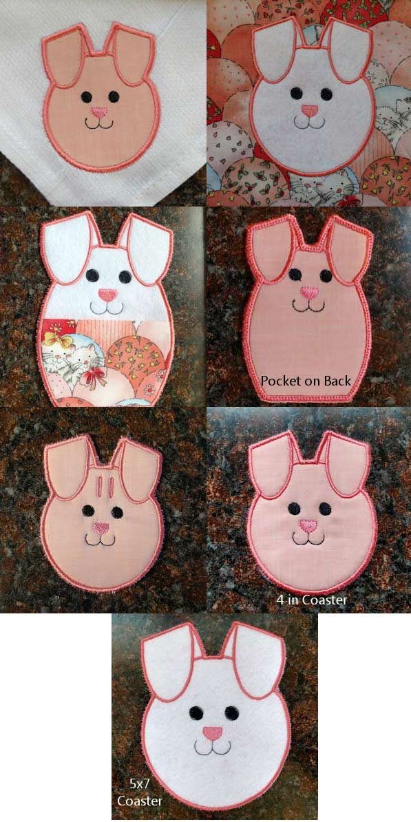 Easter Bunny Table Embroidery Machine Design Details