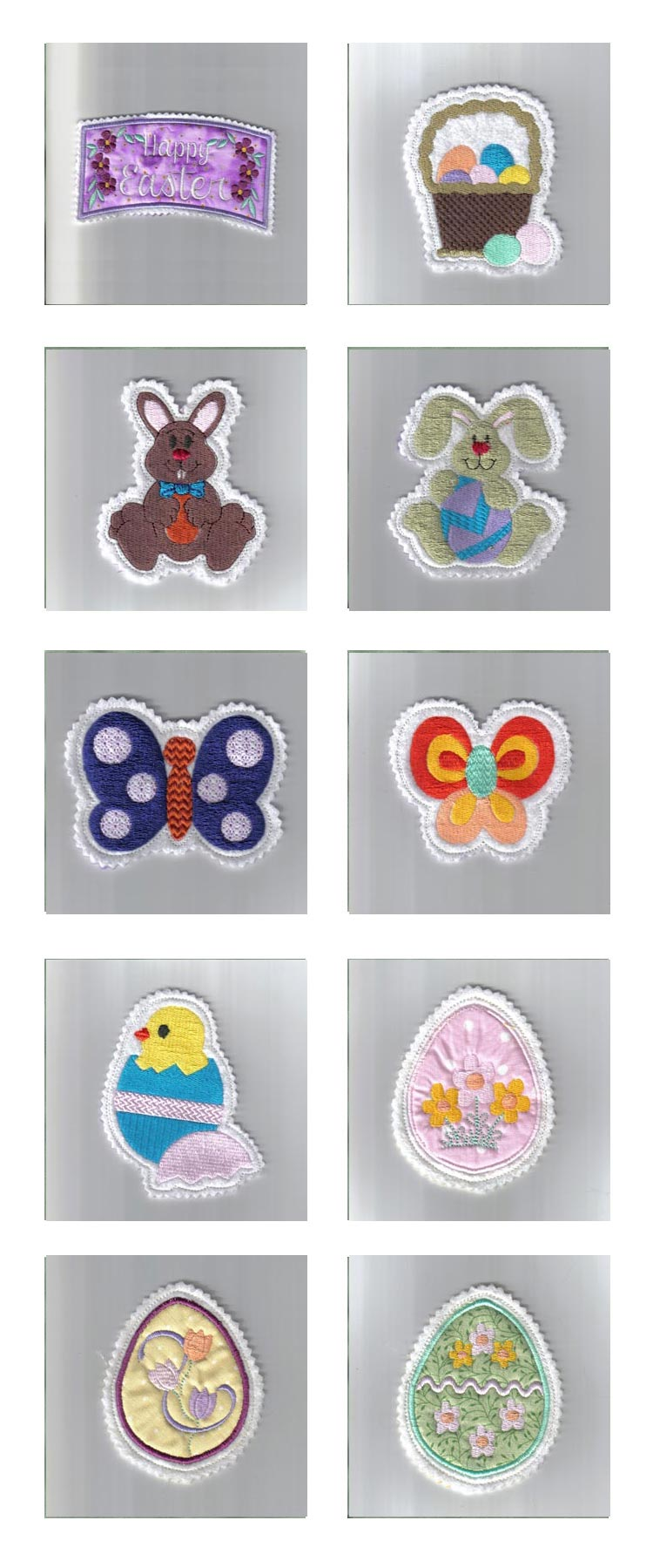 Easter Hangers Embroidery Machine Design Details