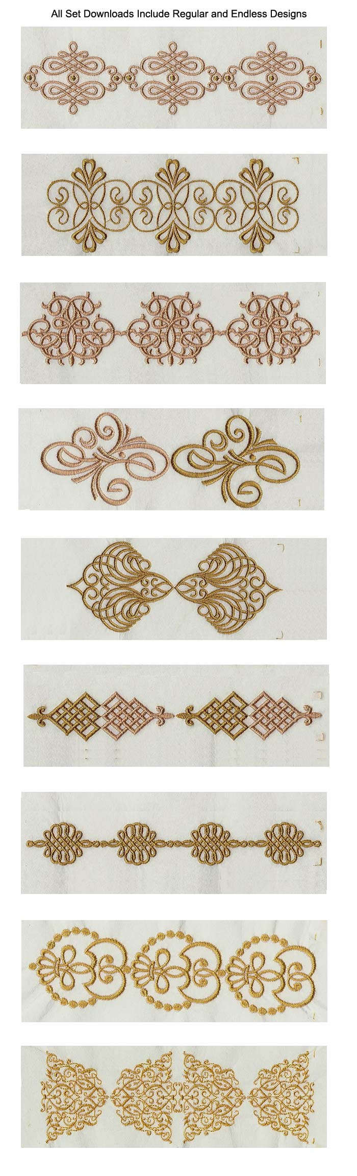 Elegant Linen Swirls Embroidery Machine Design Details