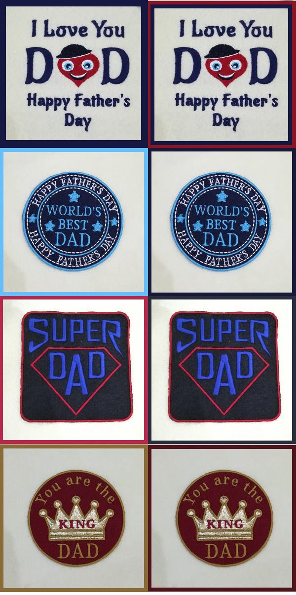 Fathers Day Embroidery Machine Design Details