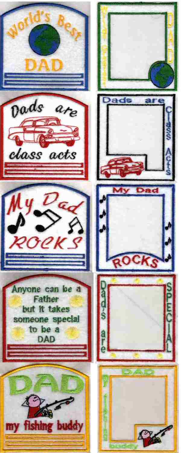 Fathers Day Gifts Embroidery Machine Design Details