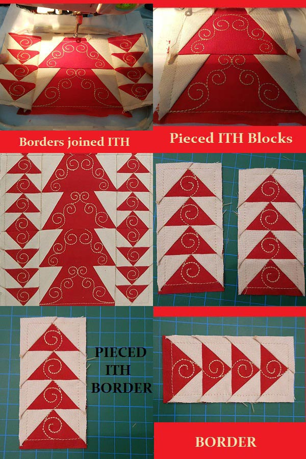 Festive Table Runner Embroidery Machine Design Details