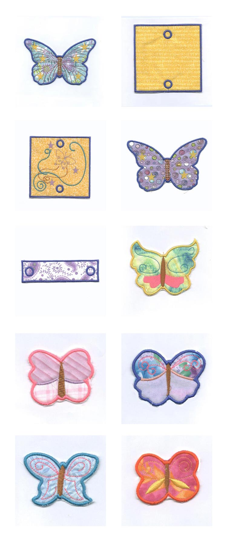 Forever Fluttering Butterflies Windsock Embroidery Machine Design Details