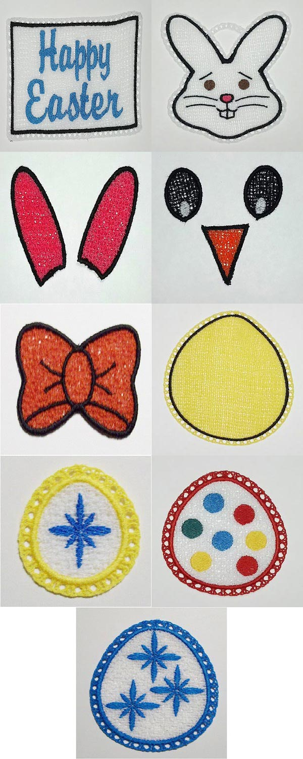 FSL Easter Danglers Embroidery Machine Design Details