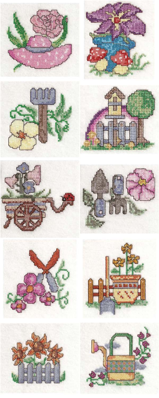 Machine embroidery designs garden time x stitch set for Garden embroidery designs