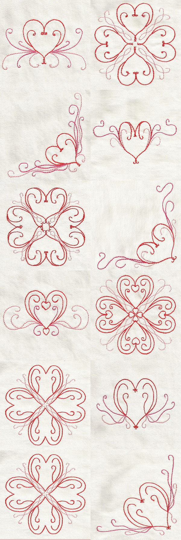 Heart Borders Embroidery Machine Design Details