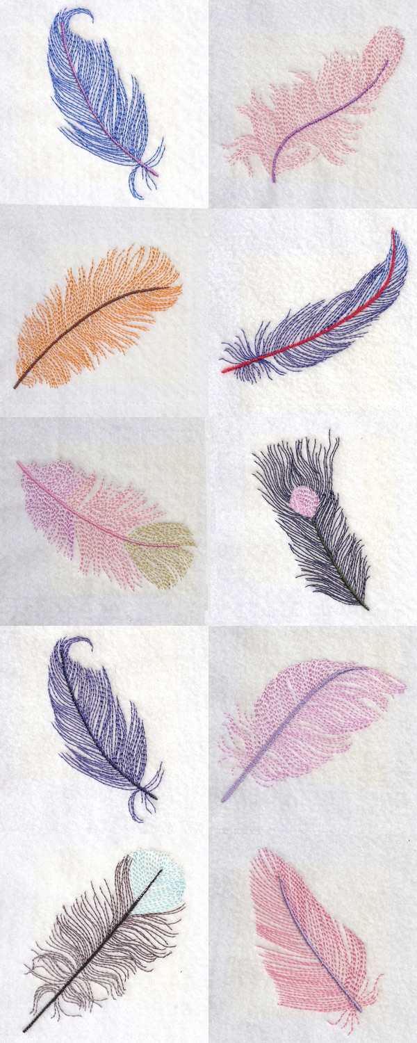 Machine Embroidery Designs Light As A Feather Set