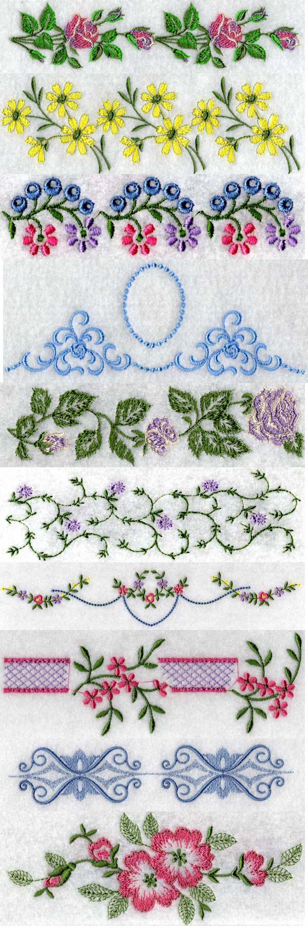 Linens 3 Embroidery Machine Design Details
