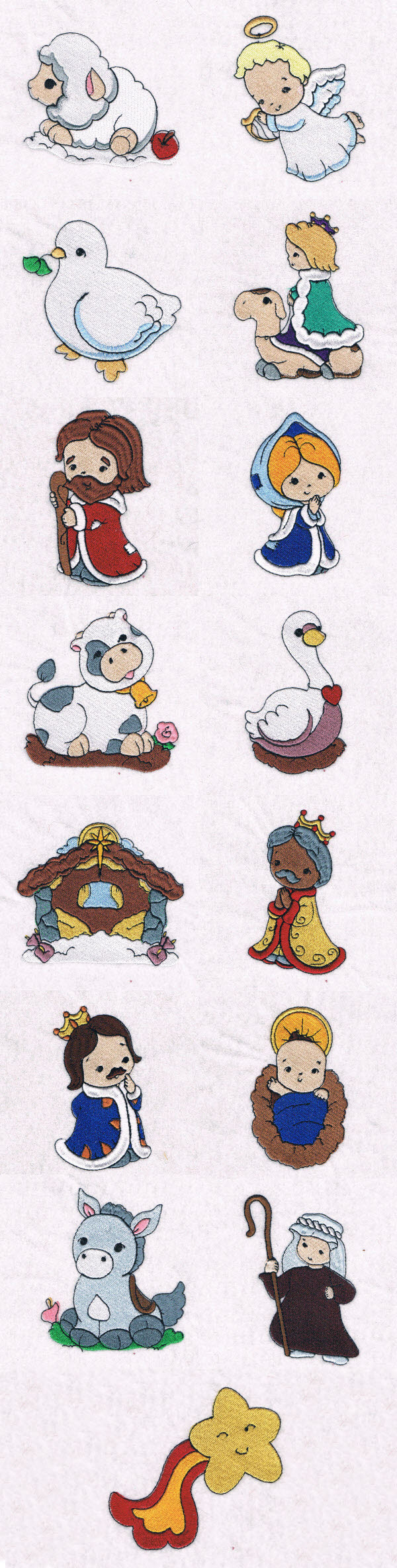 The Little Christmas Crib Embroidery Machine Design Details