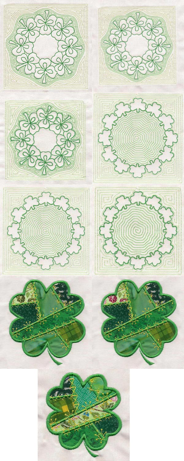 Luck O the Irish 2 Embroidery Machine Design Details