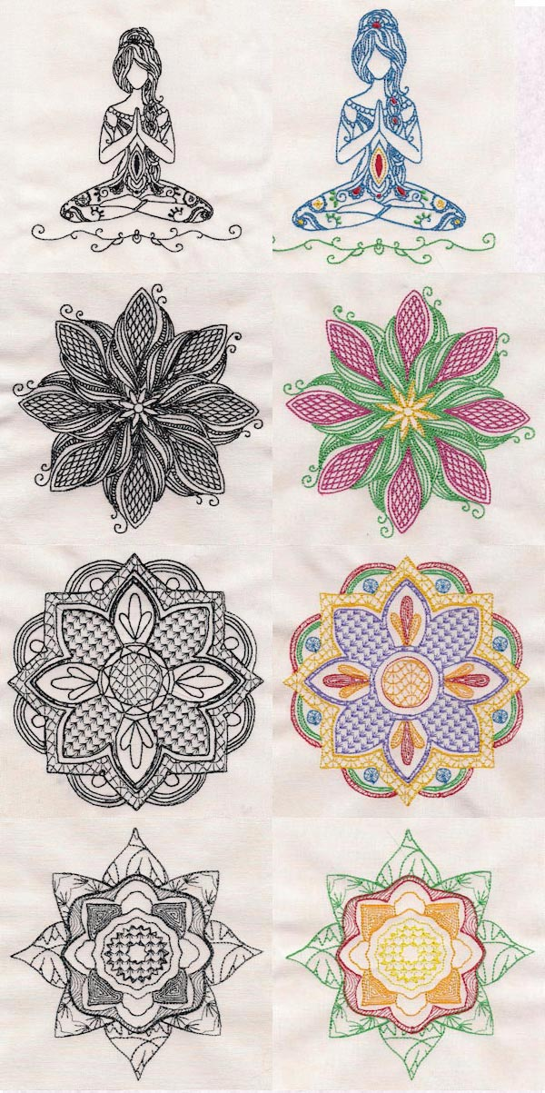 Mandalas Embroidery Machine Design Details