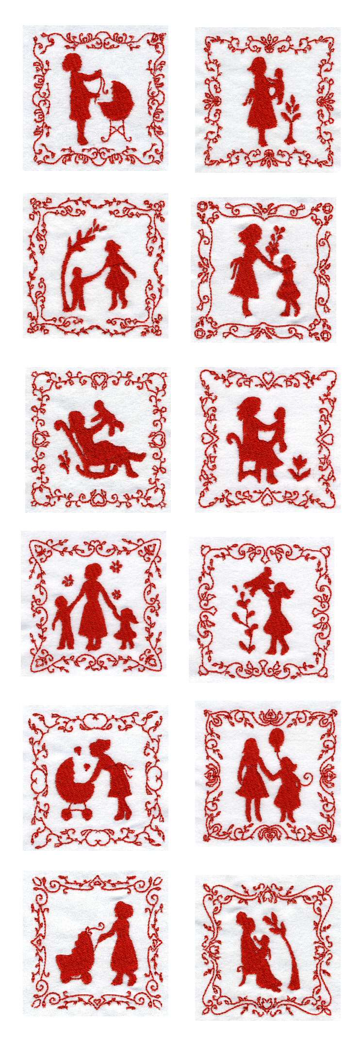 Machine Embroidery Designs Mothers Day Quilt Blocks Set