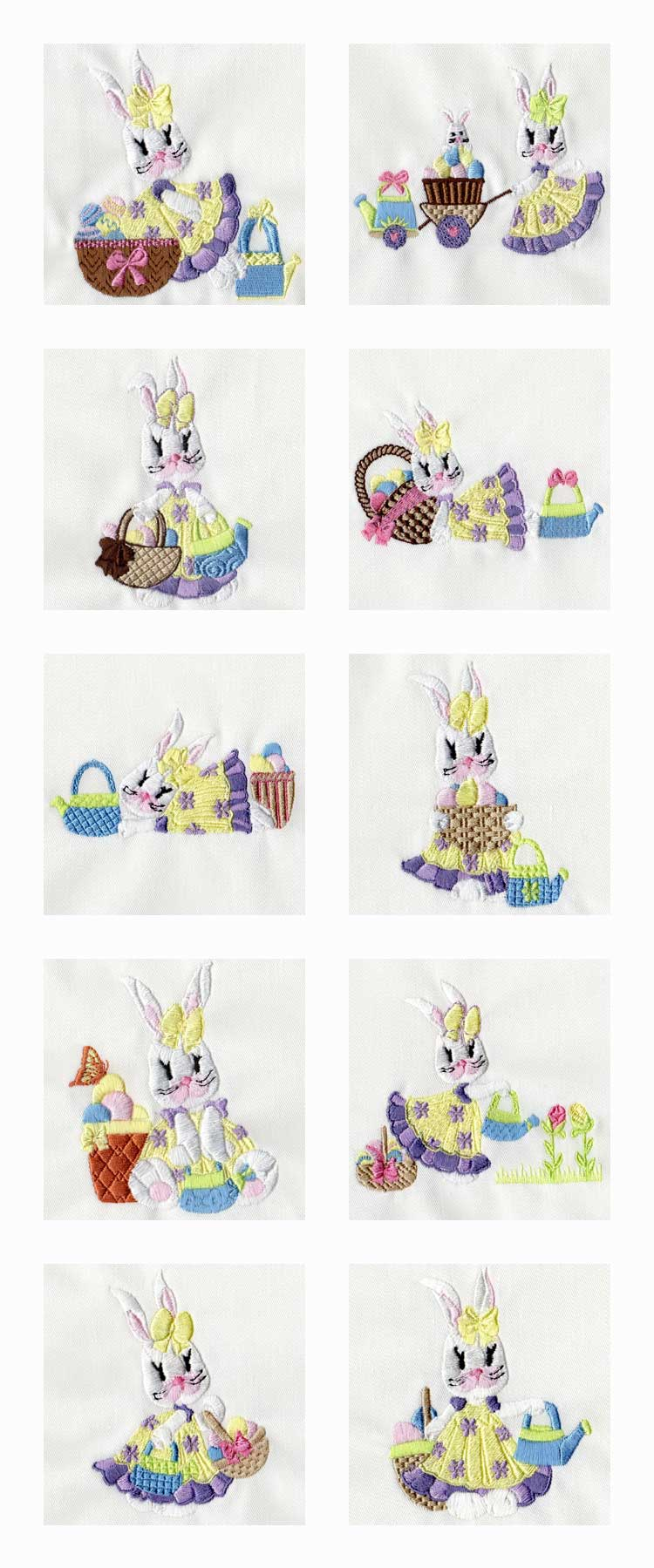 Mrs Bunny Embroidery Machine Design Details