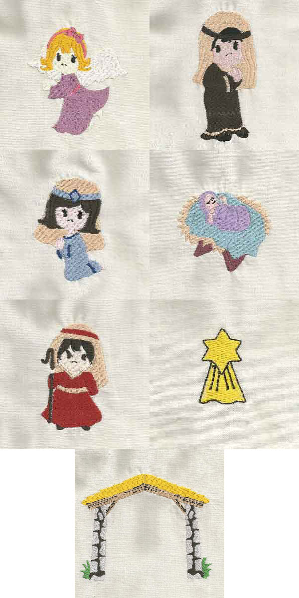 Nativity Children Embroidery Machine Design Details