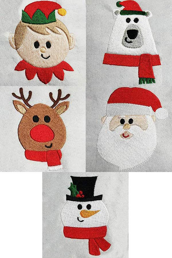 North Pole Crew Embroidery Machine Design Details