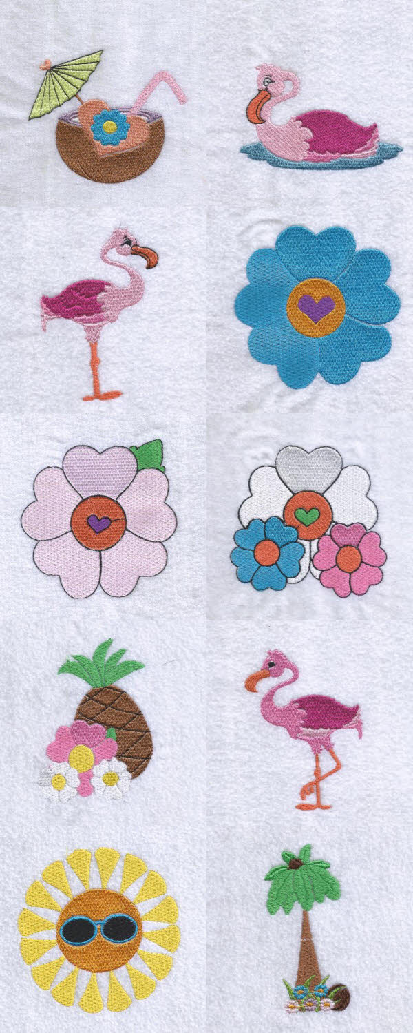 Paradise Found Embroidery Machine Design Details
