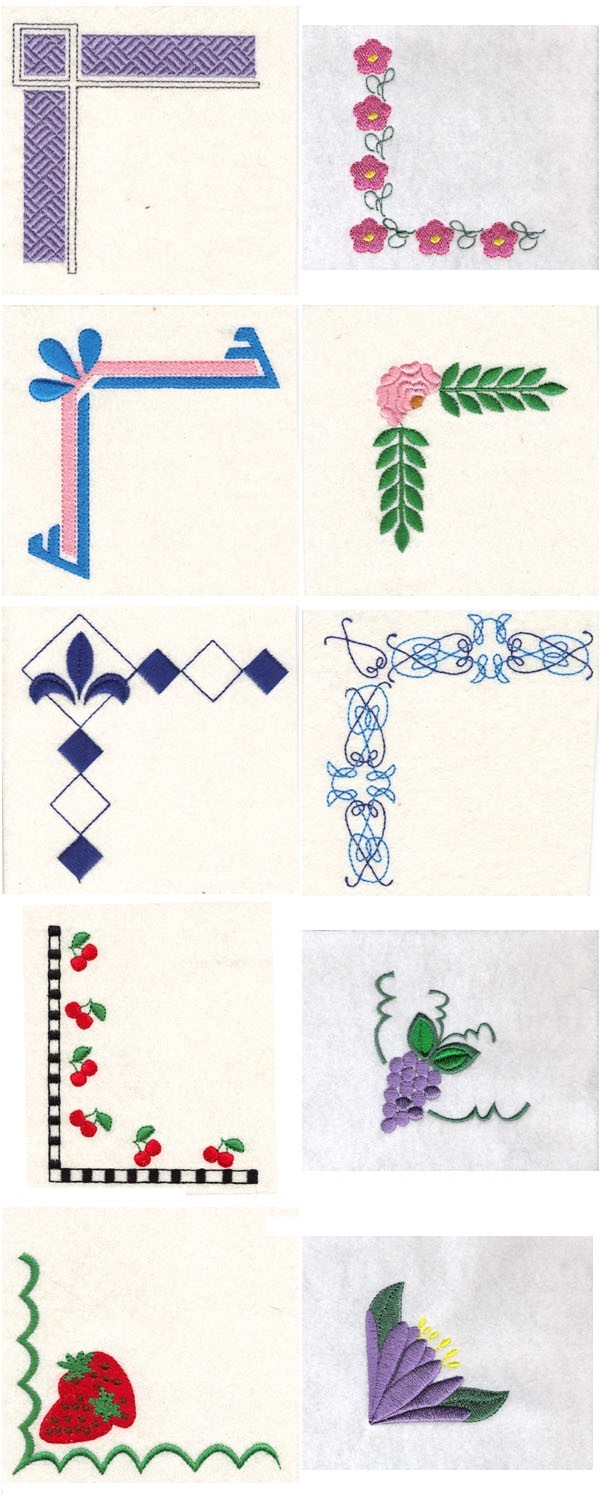 Machine Embroidery Designs - Simple Borders Set