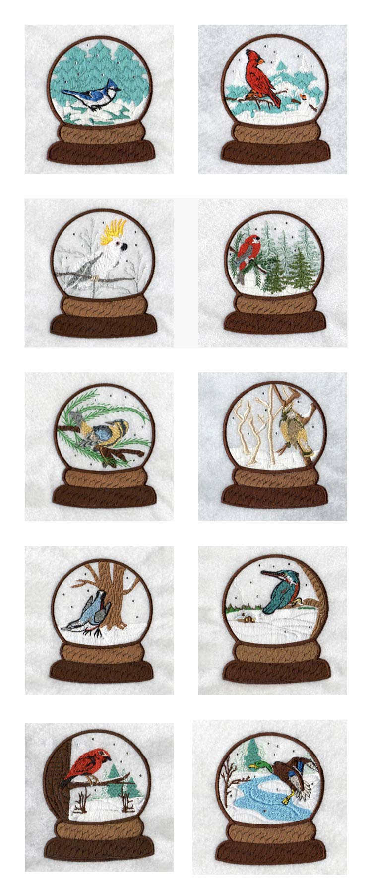 Winter Snow Globes Embroidery Machine Design Details