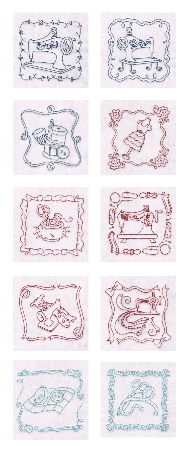 Spring Sewing Blocks Embroidery Machine Design Details