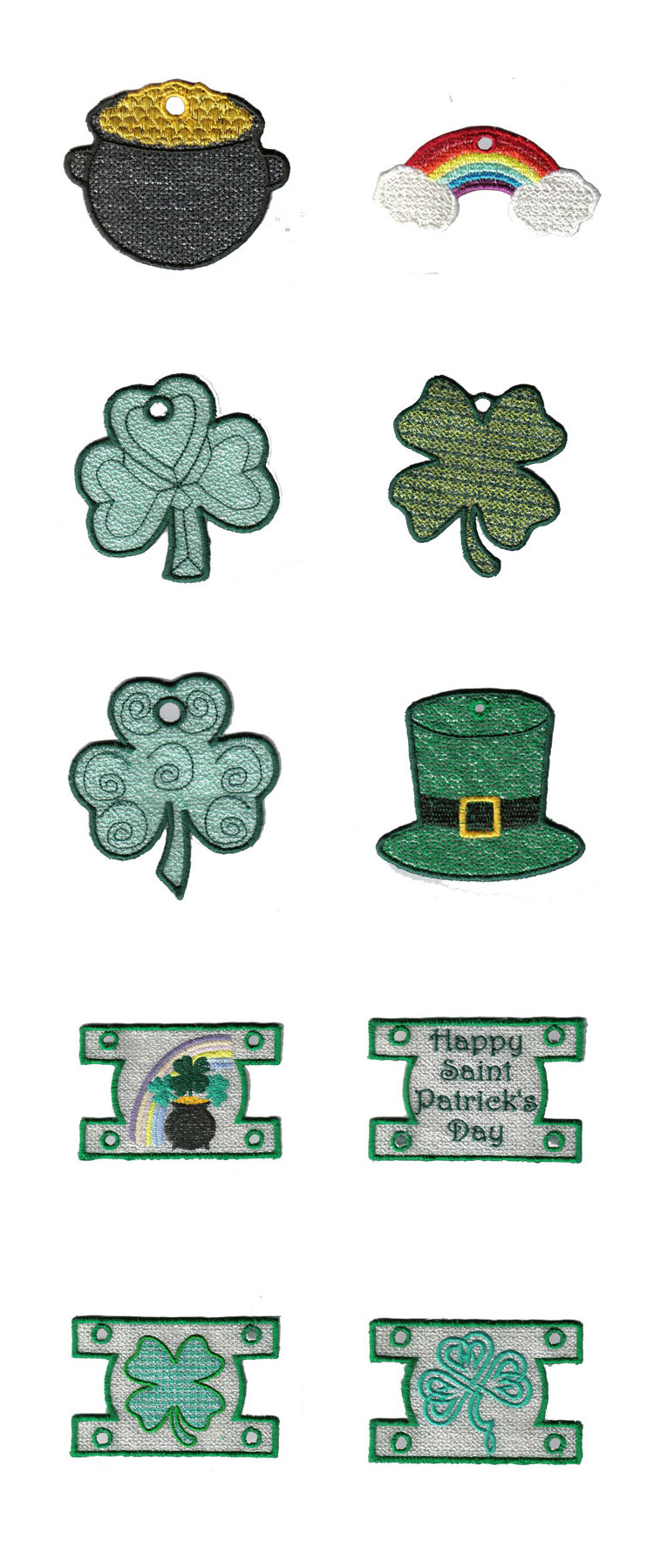 St Patricks Day Windsock Embroidery Machine Design Details
