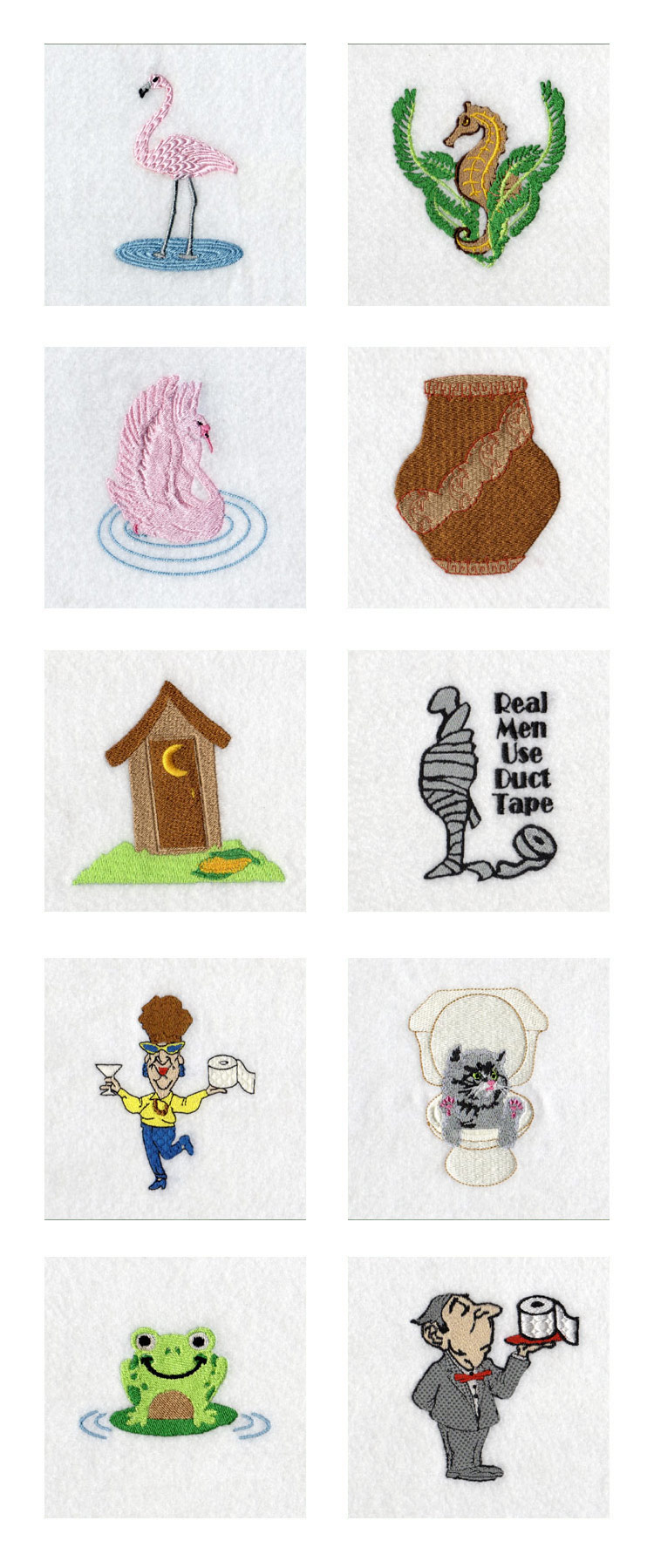 Toilet Tissue Wrappers Embroidery Machine Design Details