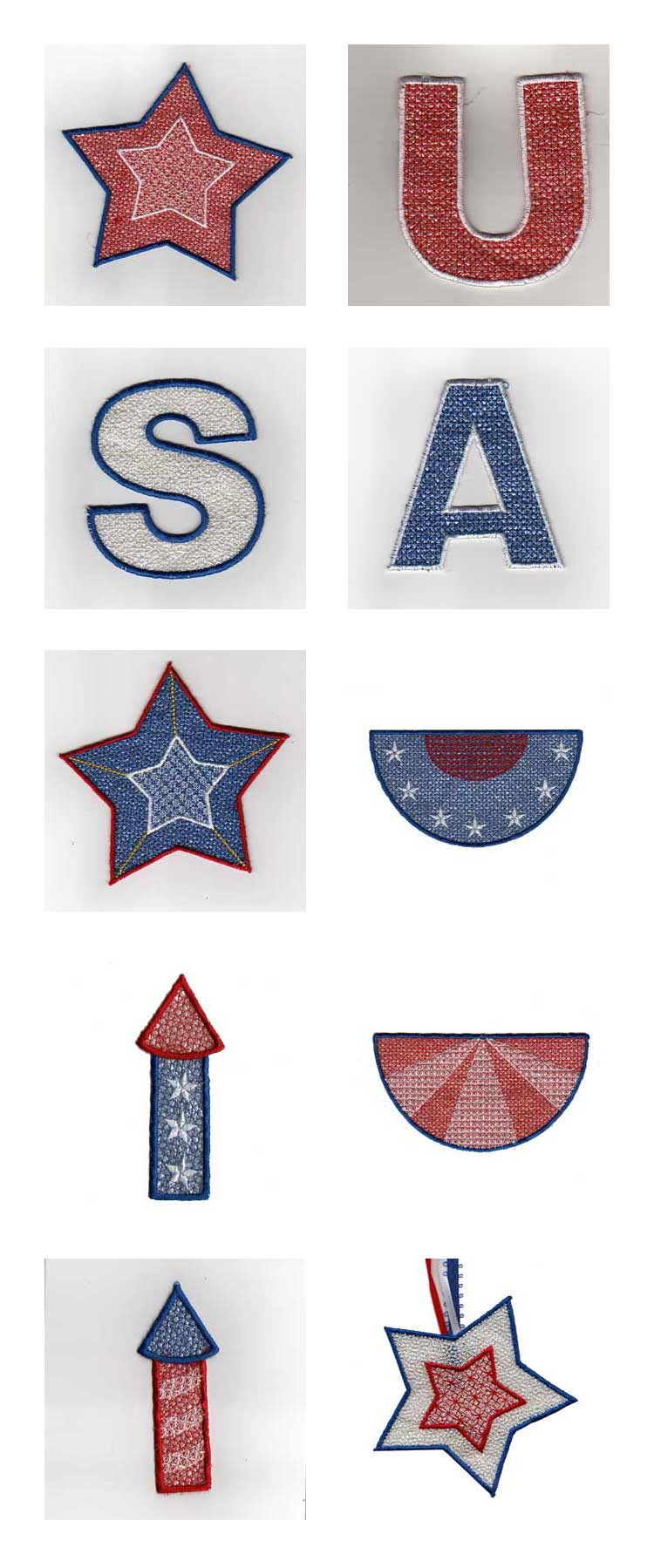 USA Banner Embroidery Machine Design Details