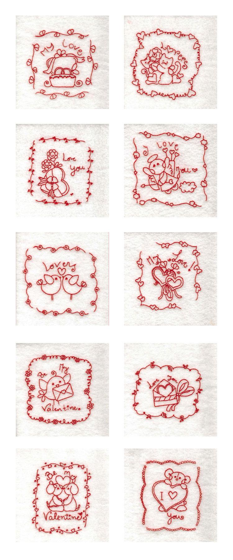 Machine embroidery designs rw valentine blocks set