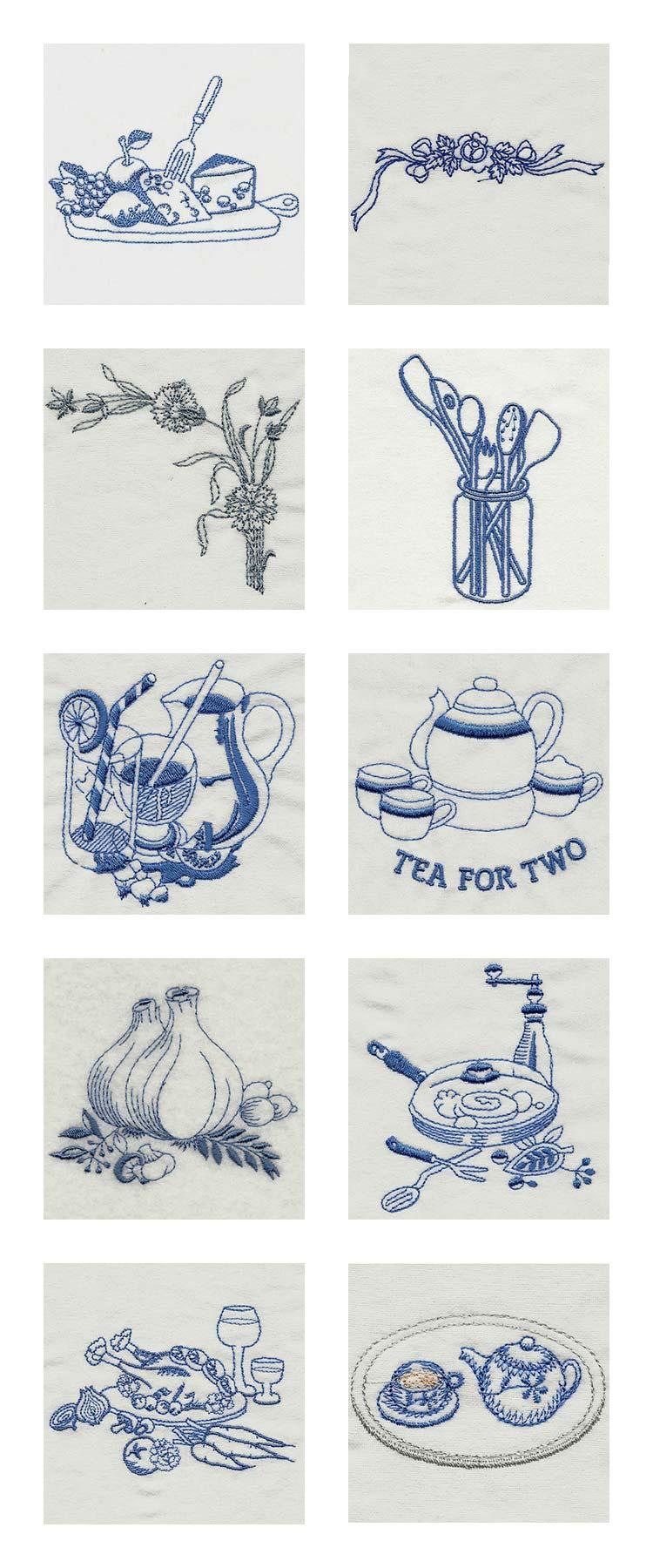 Machine Embroidery Designs - Vintage Kitchen 2 Set