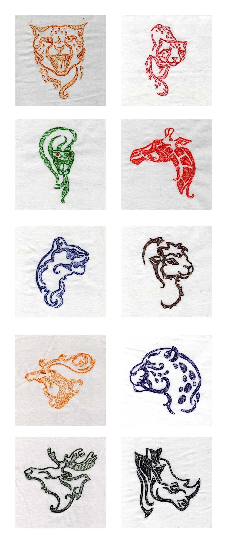 Wild Things Embroidery Machine Design Details